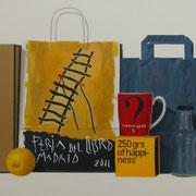 Los infinitos caminos de la lectura. Óleo/ lienzo ( 50 x 100 cm ) 2011
