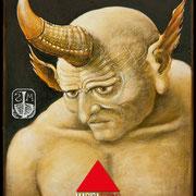 l'Occultista - Olio e tempera su tavola 30x24 ©SergioMinero - MagicaTorino 2015