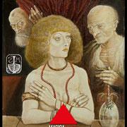 Susanna e i vecchioni - Olio su tavola 29x22 ©SergioMinero - MagicaTorino 2015