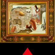 Visita al Gineceo 1992 93 - Olio su tavola 31x36,5 ©SergioMinero - MagicaTorino 2015