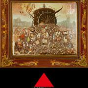 Battaglia 1992 93 - Olio su tavola 40x42,5 ©SergioMinero - MagicaTorino 2015
