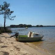 Lacanau lake
