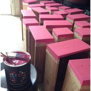 40 Schubladen in Pink