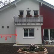 Haus Hauswand vor der vor Ort Besichtigung / Beratung und Ideenfindung mit Eigentümer