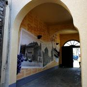 Airbrush auf der Fassadenwand