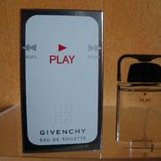 Play - Eau de toilette - 5 ml - Boite contours gris argenté