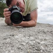 Fotofreund Michael auf Röhrenspinnen-Pirsch