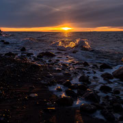 Sonnenuntergang an der Steilküste von Ahrenshoop