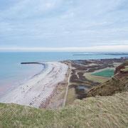 Blick vom Kliff auf die Düne