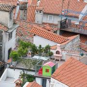 Blick vom Campanile der St. Georgs-Kathedrale auf Piran