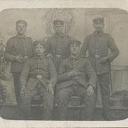 Adam Franz im I. Weltkrieg (oben rechts)