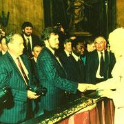 Besuch der Chorsänger in Rom 1991