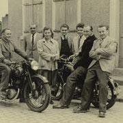 v.l. Otto Funk, Franz Gruber, Erika und Heinz Gruber, Arthur weißbrod, Erich Weber und Günther Stadler
