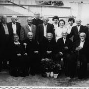 Altennachmittag mit Pfarrer Neumüller: Andreas Leibig (2.v.r.), betreut von Marlise Joos, Rösel geb. Kaufmann und Hedi Joos
