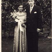 Kästel Eduard und Johanna Stauder (Duttweiler) im Jahr 1949