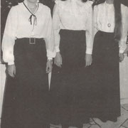 Festdamen  190. Jubiläum (1981): Elisabeth Weisbrod, Hannelore Tanzel, Karolin Bockmayer