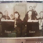 Geinsheimer Musiker: v.l. Karl Mattern, Fritz Prell, Walter Maurer, Herrmann Kästel