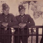 Günter Stadler mit Kamerad beim Arbeitsdienst in Germersheim Sommer 1944
