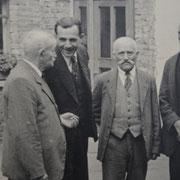 Bürgermeister Karl Ramsel mit Jakob Funk, Josef Appel und Adam Becker