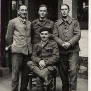 Vier französische Gefangene November 1942