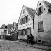 Kirchgässel, heute Storchengasse, Anton Urig und Jean Bender, 1951