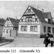 Haus von Nebel, Gäustraße 32, in den 20er Jahren errichteter Neubau