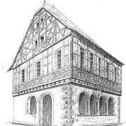 Rathaus von 1594, Zeichnung 1876