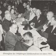 Ehrengäste beim 160jährigen Jubiläum 1951