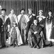 Theatergruppe v.l. Johannes Hoffmann, Maria Kästel, Richard Klohe, ...Heinrich Röther, Barbara Jungmann