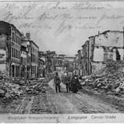 Kriegszerstörung in Longuyon im April 1916, Bild von Adam Weber