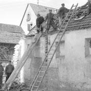 Abrissarbeiten für Sängerheim 1984