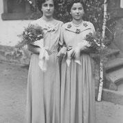 Freundinnen Erika Gruber und Adelhilde Rohr