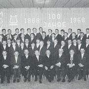Der Chor des MGV beim Jubiläumskonzert 1968