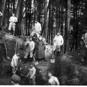 Geinsheimer Soldaten beim Schanzen