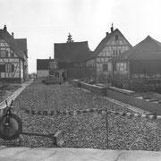 Bau der Verbindung Hauptstraße zur heutigen Blumenstraße nach 1972