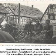 Anna Mohr mit ihrer Tante Elisabeth (Elise) Mohr geb. Kästel (Bild ca. 1938)