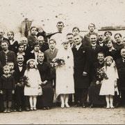 Hochzeit von Heinrich Kästel mit Mon. , 1928