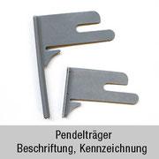 Pendelträger 2 – Beschriftung, Kennzeichnung