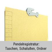 Taschen, Schatullen, Ordner - für Pendelregistratur