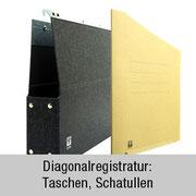 Taschen, Schatullen - für Diagonalsichtregistratur