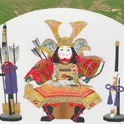 フリー素材・和風・貼り絵・五月人形