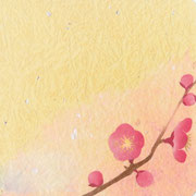 フリー素材・和風・貼り絵・梅