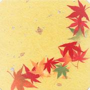 フリー素材・和風・貼り絵・紅葉
