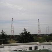 局舎屋上からのアンテナ群