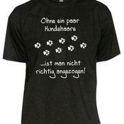 T-Shirt in verschiedenen Größen