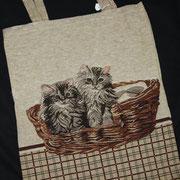 Einkaufsbeutel mit Katzenmotiv
