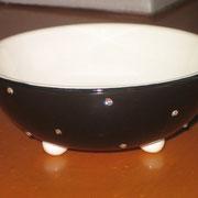 Schälchen als Futternäpfchen aus Porzellan mit Straßsteinen