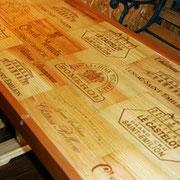ワイン木箱テーブル