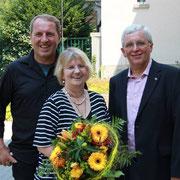Roland und Elke Werner mit Karl-Heinz Stengel