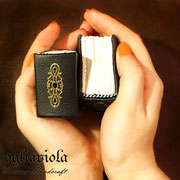 Tiny Books. bookbinding treasure. Original Design Fogliaviola